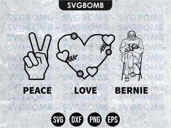 Peace Love Bernie Sanders SVG