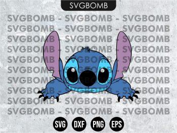Peek a Boo Lilo and Stitch SVG