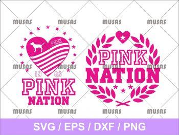 Pink Nation SVG