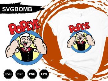 Popeye T Shirt Design SVG
