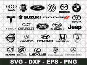Popular Car Brands Logo SVG