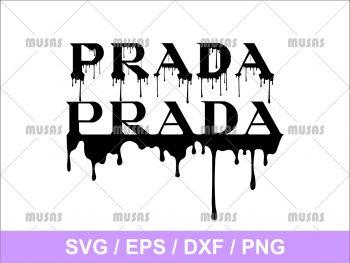 Prada Drip Dripping Logo SVG