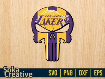 Punisher Los Angeles Lakers SVG
