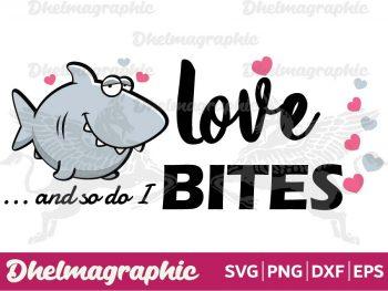Shark Love Bites SVG