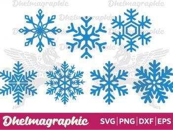 Snowflake Flake Winter SVG EPS PNG DXF
