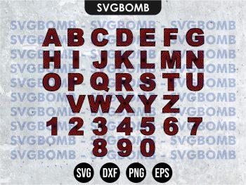 SPIDERMAN Alphabet SVG