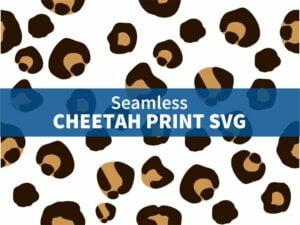 Seamless Cheetah Print SVG
