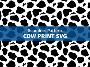 Seamless Pattern Cow Print SVG