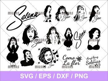 Selena Quintanilla Face SVG