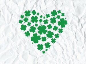 Shamrock Heart Love SVG