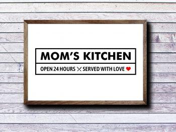 Sign Mom's Kitchen SVG