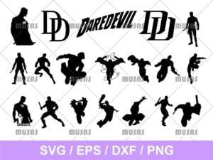 Silhouette Daredevil SVG