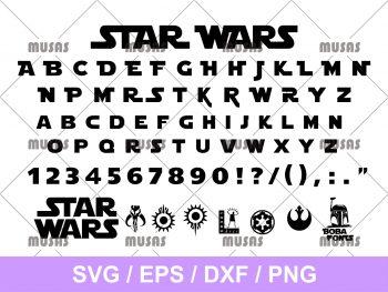 Star Wars Font SVG