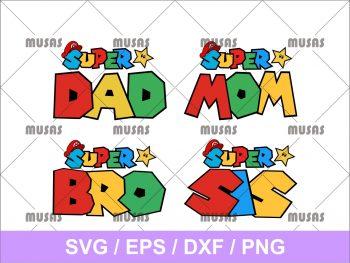 Supermario Super Family SVG