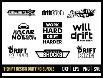T Shirt Design Drifting SVG Bundle