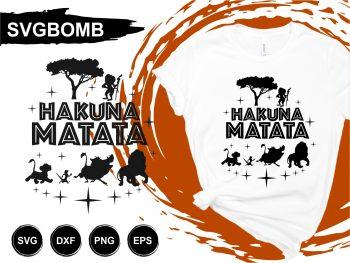 The Lion King Hakuna Matata T Shirt Design SVG