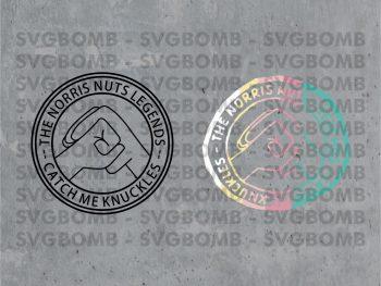 The Norris Nuts Legends Catch Me Knuckles Logo SVG