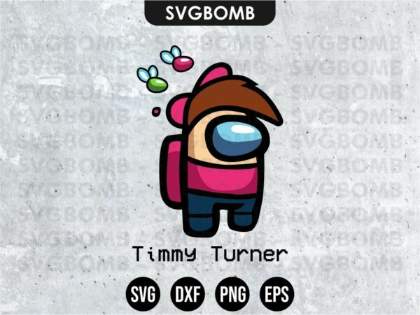 Timmy Turner Among Us SVG