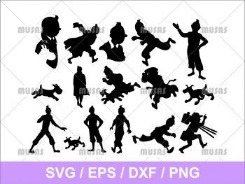 Tintin Silhouette SVG Vector