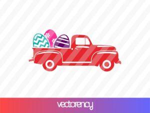 Truck Easter Eggs SVG