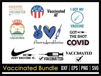 Vaccinated Bundle SVG