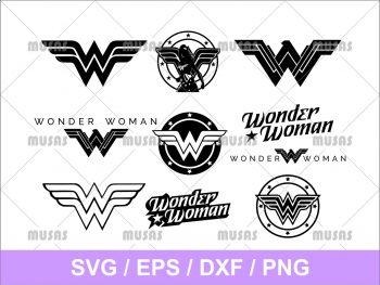 Wonder Woman Silhouette Logo SVG