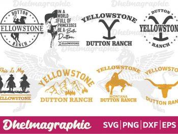 Yellowstone Bundle SVG PNG DXF EPS