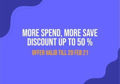 promo vectorency more spend more save feb 2021
