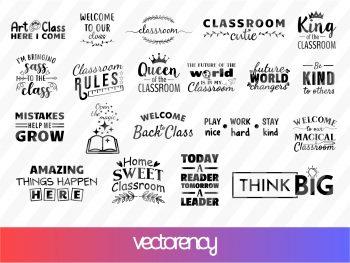 20 Classroom SVG Bundle