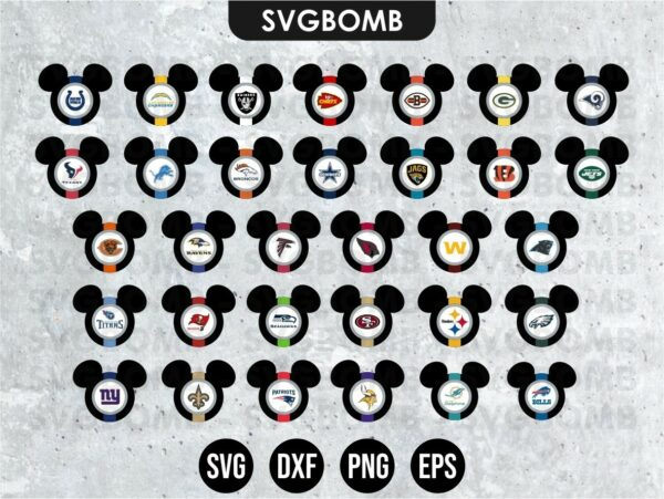 32 Mickey Mouse NFL Teams