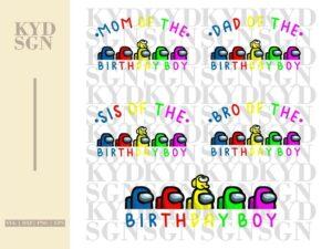 Among Us Birthday Boy SVG