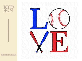 Baseball Love SVG