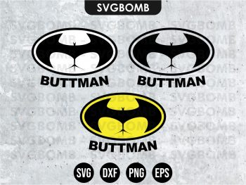 Buttman Decals Cut File SVG