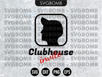 Clubhouse Invite SVG