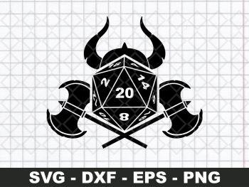 D20 Viking SVG