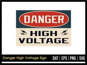 Danger High Voltage Sign SVG