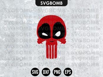 Deadpool Punisher SVG