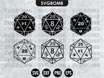 Dice D20 SVG