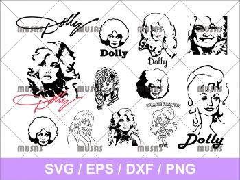 Dolly Parton SVG