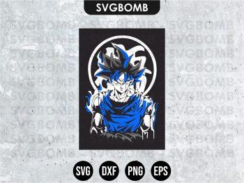 Dragon Ball Goku SVG