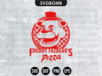 FNAF Five Nights at Freddy's Fazbear's Pizza SVG