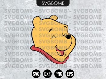 Face Winnie the Pooh SVG