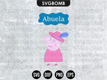 Family Abuela Peppa Pig SVG