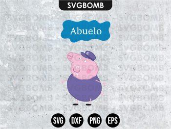 Family Abuelo Peppa Pig SVG