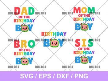 Family Birthday Boy Cocomelon SVG