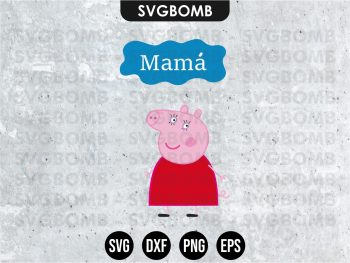 Family Mama Peppa Pig SVG