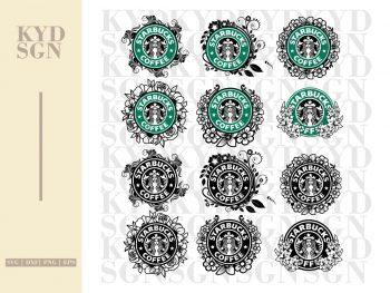 Flower Starbucks SVG