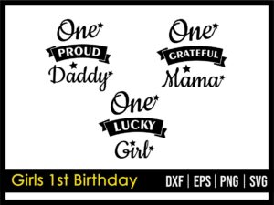 Girls 1st Birthday SVG