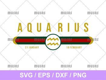 Gucci Aquarius Zodiac SVG