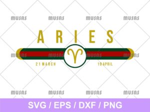 Gucci Aries Zodiac SVG